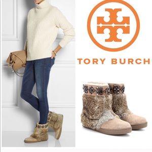 Tory Burch Dalton Fur boots
